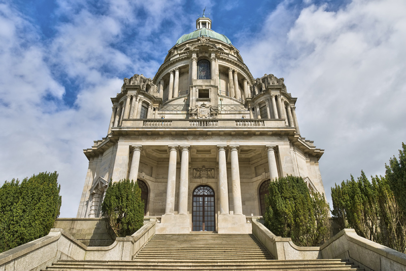 View of the Ashton Memorial, Williamson' s Park, Lancaster, England.